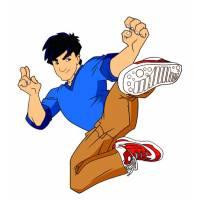 Disegno di Jackie Chan a colori