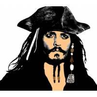 Disegno di Johnny Depp Pirata dei Caraibi a colori