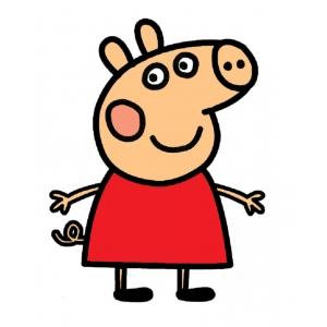 Disegno di peppa pig a colori per bambini gratis for Maschere di peppa pig da colorare