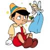 Disegno di Pinocchio e la Fatina a colori