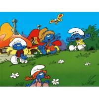 Disegno di Il Villaggio dei Puffi a colori