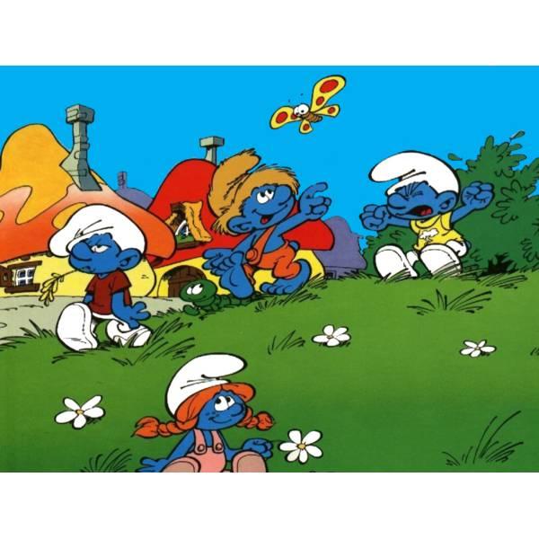 Disegno di il villaggio dei puffi a colori per bambini - Animali dei cartoni animati a colori ...
