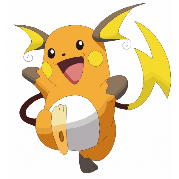 Disegno di raichu pokemon a colori per bambini