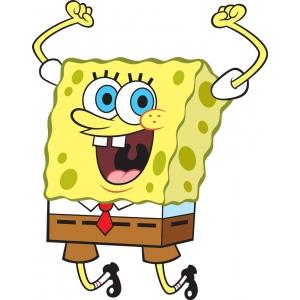 Disegno di spongebob hurra a colori per bambini gratis for Disegni spongebob