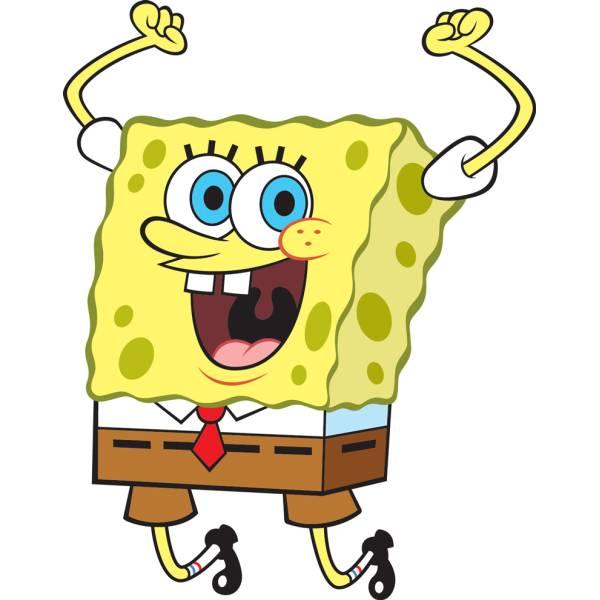 Disegno di Spongebob Hurra! a colori