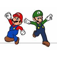 Disegno di Mario e Luigi a colori