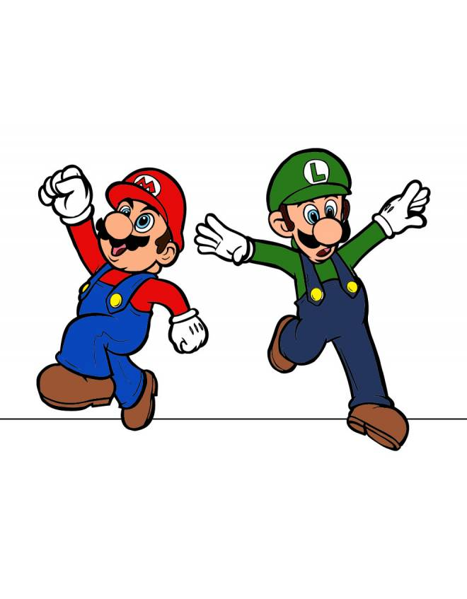Disegno Di Mario E Luigi A Colori Per Bambini Disegnidacolorareonline Com