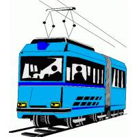 Disegno di Tram a colori