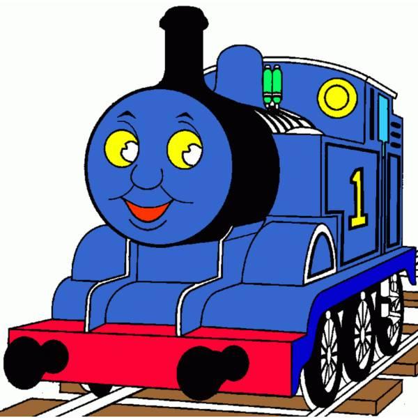 Disegno di trenino thomas a colori per bambini