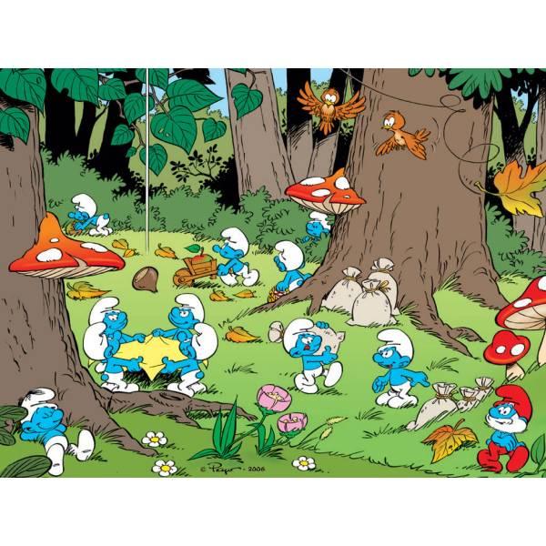 Disegno di Villaggio dei Puffi a colori