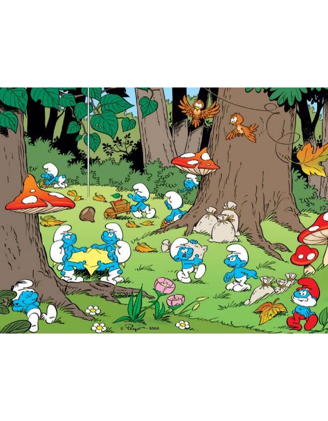 Disegno di villaggio dei puffi a colori per bambini - Animali dei cartoni animati a colori ...