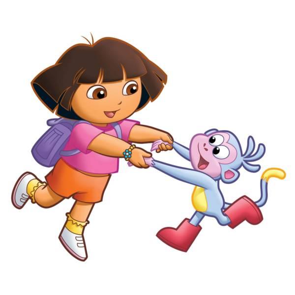 Disegno di Dora e Boots a colori