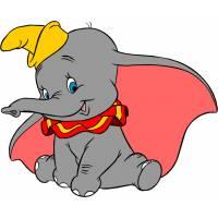 Disegno di Dumbo a colori