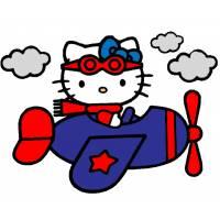 disegno di Hello Kitty Pilota a colori