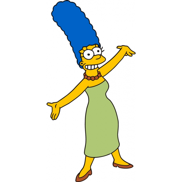 Disegno di Marge Simpson a colori