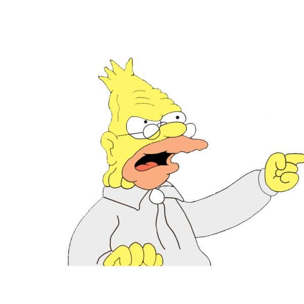 Disegno di Nonno Simpson a colori