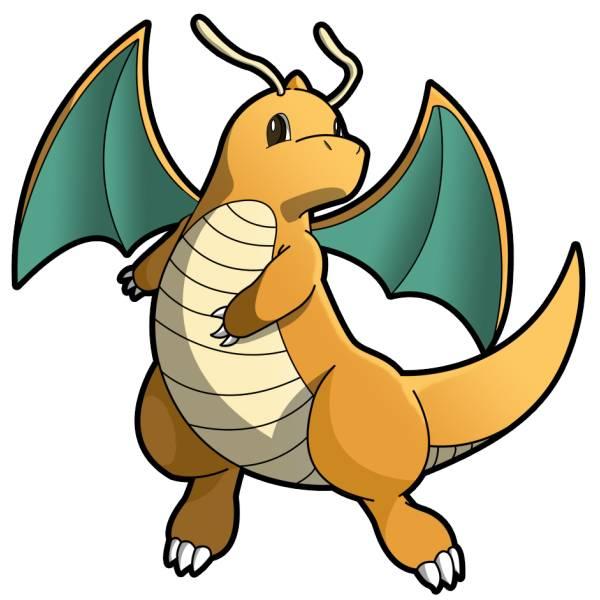 Disegno di Pokemon Dragonite a colori