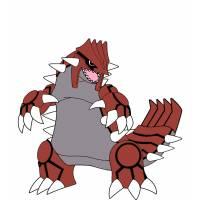 Disegno di Pokemon Groudon a colori