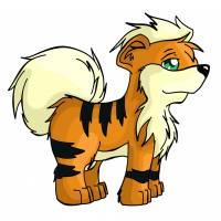 Disegno di Pokemon Growlithe a colori