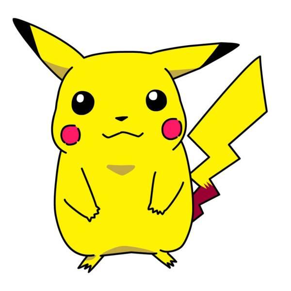 Disegno Di Pokemon Pikachu A Colori Per Bambini