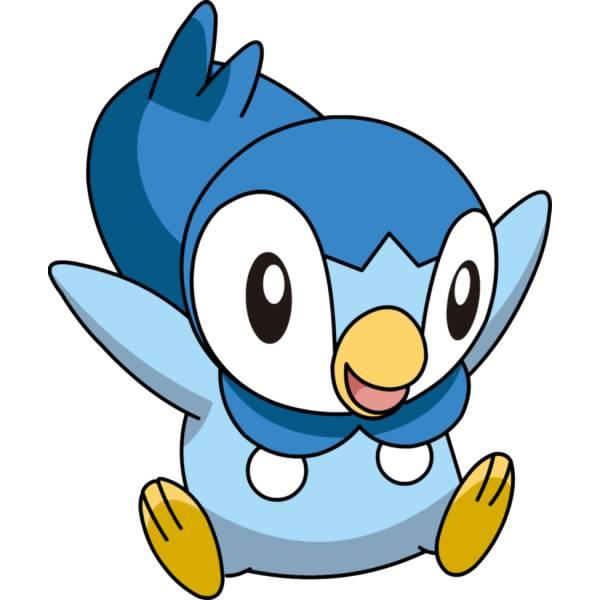 Disegno di pokemon piplup a colori per bambini