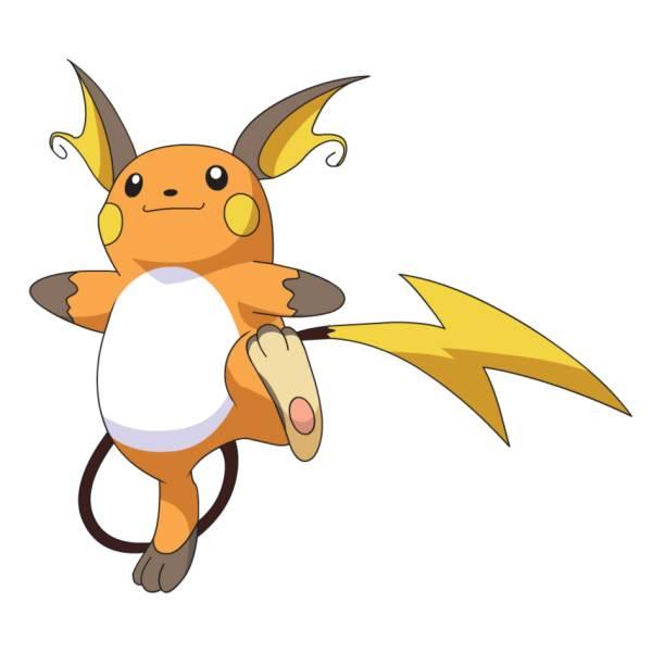 Disegno di pokemon raichu a colori per bambini