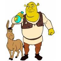 Disegno di Shrek e Asino Ciuchino a colori