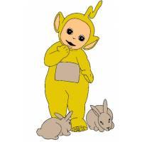 disegno di Teletubbies e Coniglietti a colori