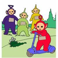 disegno di Teletubbies al Parco a colori