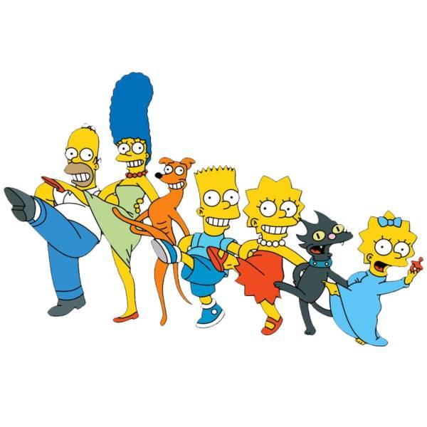 Disegno di The Simpsons a colori