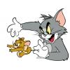 Disegno di Tom e Jerry in Azione a colori
