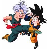 Disegno di Trunks e Goku a colori