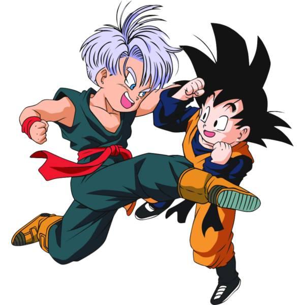 Disegno Di Trunks E Goku A Colori Per Bambini