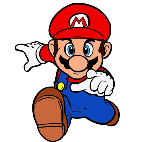 Disegno di Super Mario Bros a colori