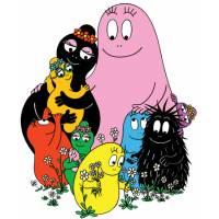 Disegno di La Famiglia Barbapapà a colori