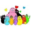 Disegno di Famiglia Barbapapà a colori