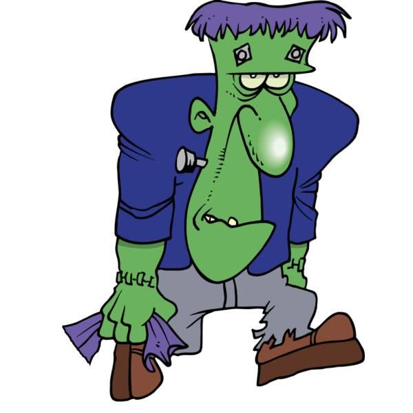 Disegno di Frankenstein a colori