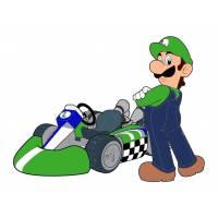 Disegno di Luigi Kart a colori