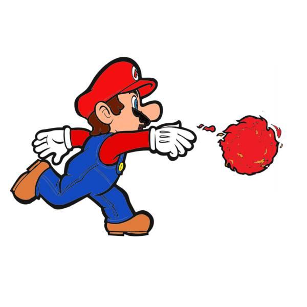 Disegno di Mario Bros Palla di Fuoco a colori