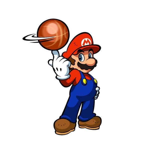 Disegno Mario Bros Con Palla Colori Per Bambini