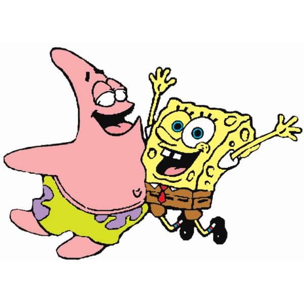 Disegno di Patrick e Spongebob a colori