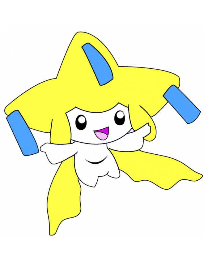 Disegno di pokemon jirachi a colori per bambini