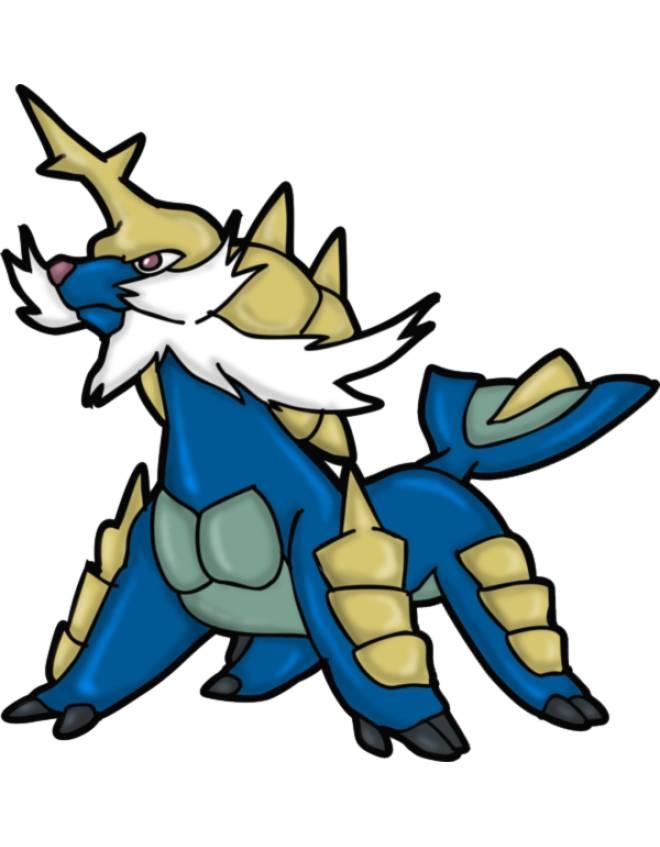 Disegno di pokemon samurott a colori per bambini