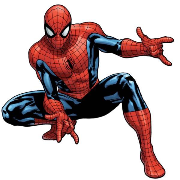 Disegno di l uomo ragno a colori per bambini