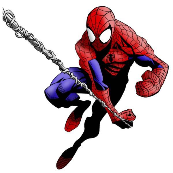 Disegno di Spiderman L'Uomo Ragno a colori