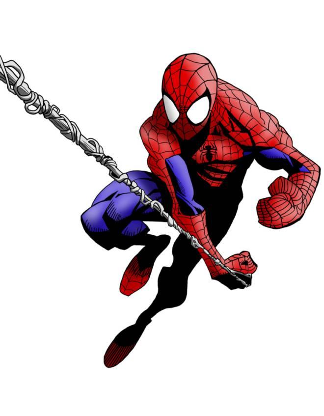 Disegno di spiderman l uomo ragno a colori per bambini