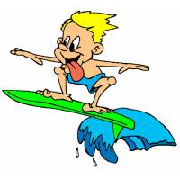 disegno di Surf a colori