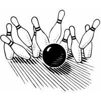 Disegno di Bowling Strike da colorare