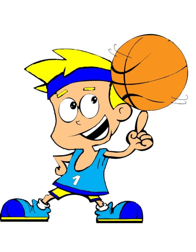 Disegno di basket a colori per bambini
