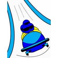 Disegno di Bob sulla Neve a colori